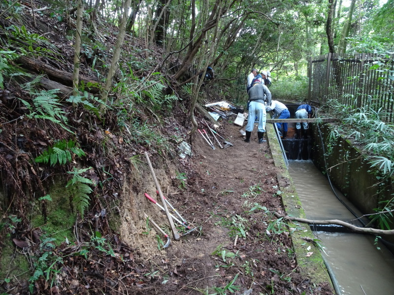 ダムの作り直し・・・うみべの森_c0108460_16562960.jpg