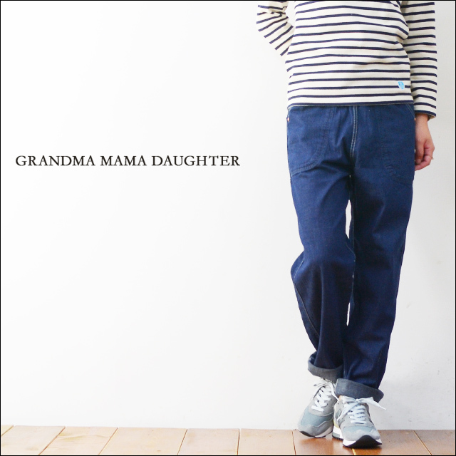 GRANDMA MAMA DAUGHTER [グランマ・ママ・ドーター] SIDE ZIP DENIM PANTS  [ONE WASH] [GP007-OW] LADY\'S_f0051306_18381670.jpg