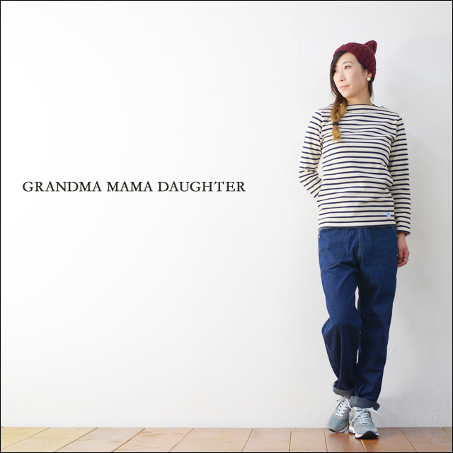 GRANDMA MAMA DAUGHTER [グランマ・ママ・ドーター] SIDE ZIP DENIM PANTS  [ONE WASH] [GP007-OW] LADY\'S_f0051306_18381750.jpg