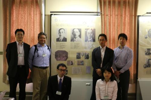 繊維学会 2016 参加の帝人株式会社の5人の技術者を重文本館にご案内_c0075701_16522166.jpg