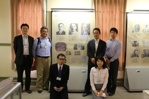 繊維学会 2016 参加の帝人株式会社の5人の技術者を重文本館にご案内_c0075701_16522499.jpg