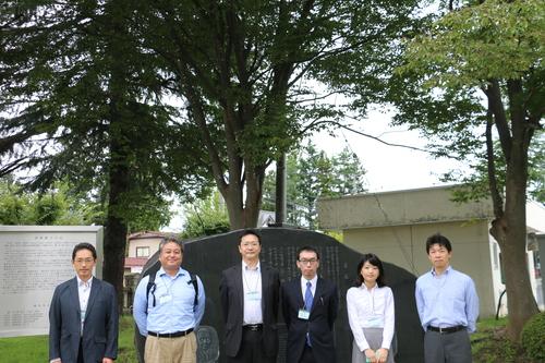 繊維学会 2016 参加の帝人株式会社の5人の技術者を重文本館にご案内_c0075701_16524626.jpg