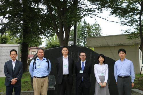 繊維学会 2016 参加の帝人株式会社の5人の技術者を重文本館にご案内_c0075701_1652478.jpg