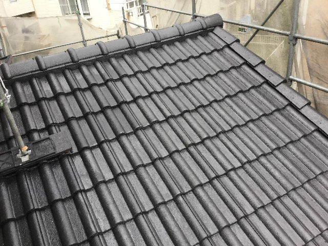 7日目・・・屋根塗装仕上げの1回目_f0031037_18343589.jpg