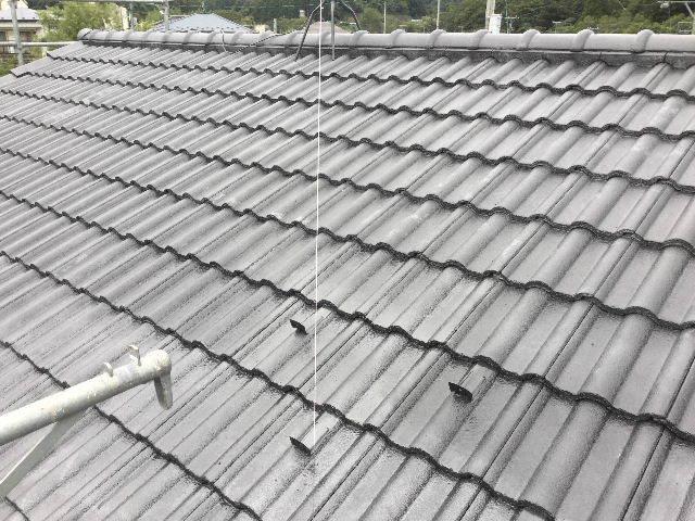 7日目・・・屋根塗装仕上げの1回目_f0031037_18343955.jpg
