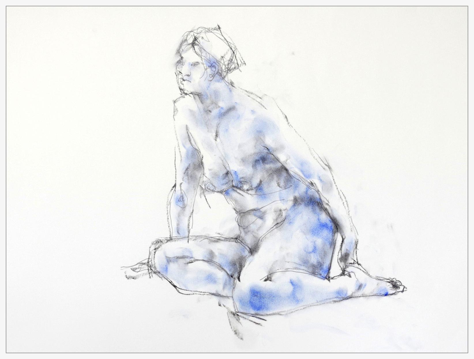 《 裸婦素描・・・・同ポーズで 5 》_f0159856_10373609.jpg