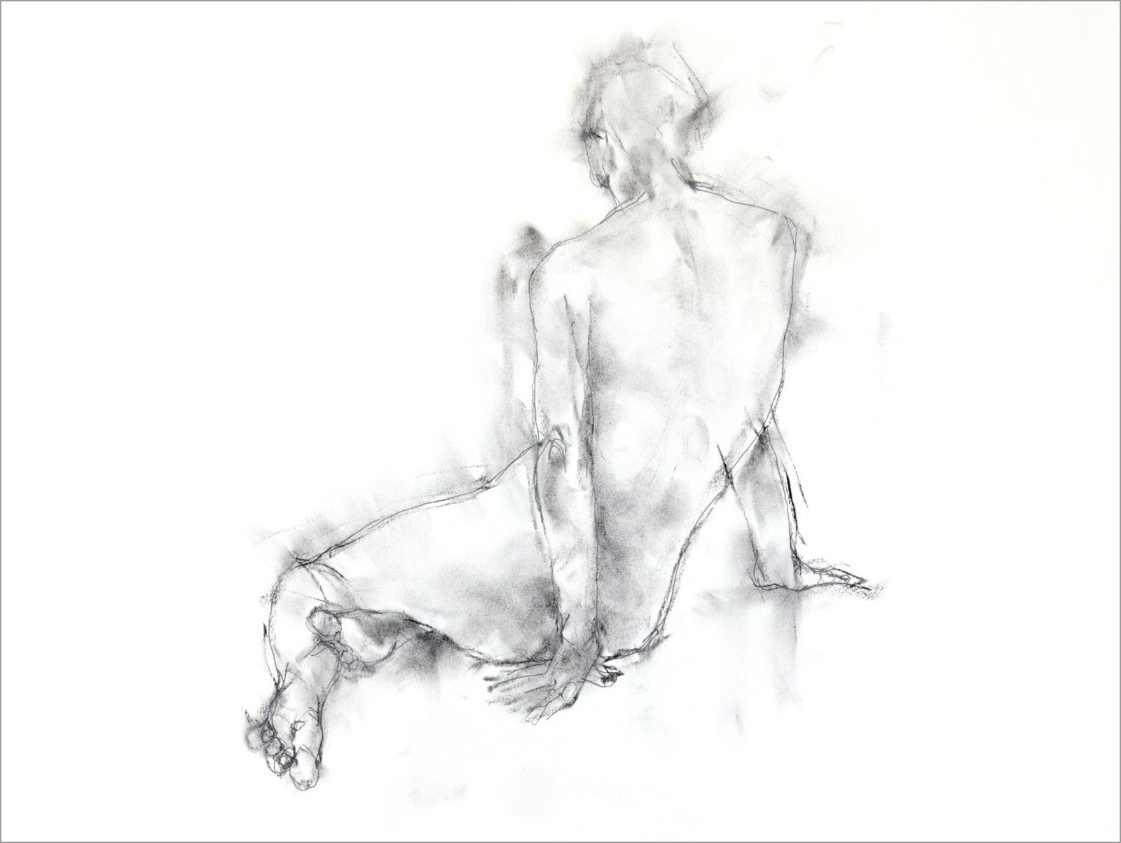《 裸婦素描・・・・同ポーズで  6 》_f0159856_19404005.jpg