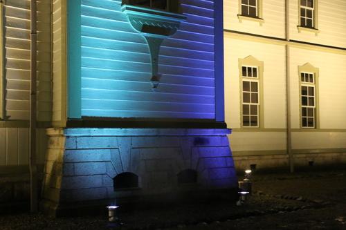 重文本館のライトアップを「オレンジ」、「ブルー」、「パープル」で実験・1_c0075701_2159072.jpg
