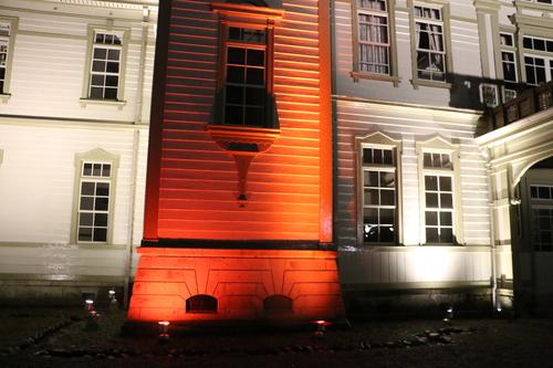 重文本館のライトアップを「オレンジ」、「ブルー」、「パープル」で実験・1_c0075701_21591114.jpg