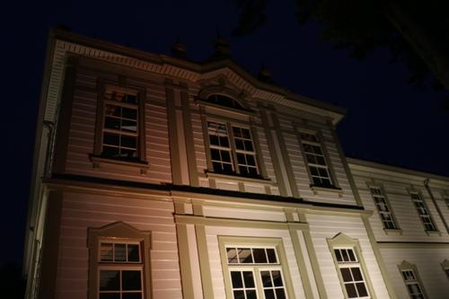 重文本館のライトアップを「オレンジ」、「ブルー」、「パープル」で実験・1_c0075701_215921100.jpg