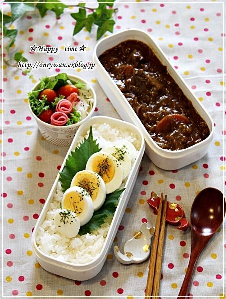 カレーライス弁当と常備菜作り♪_f0348032_17425547.jpg