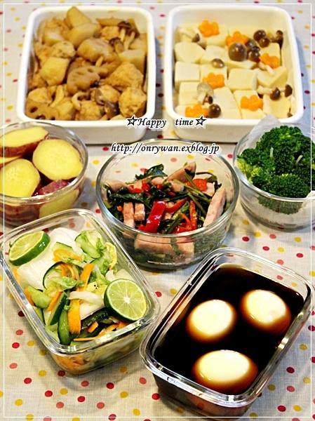 カレーライス弁当と常備菜作り♪_f0348032_17431459.jpg