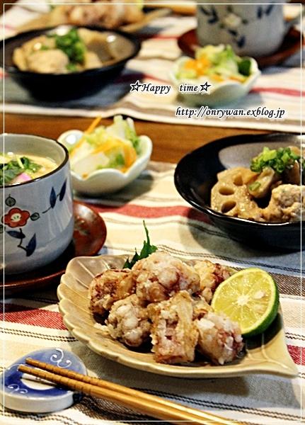 サーモンの照焼き弁当と今夜はタコ唐~♪_f0348032_18010404.jpg