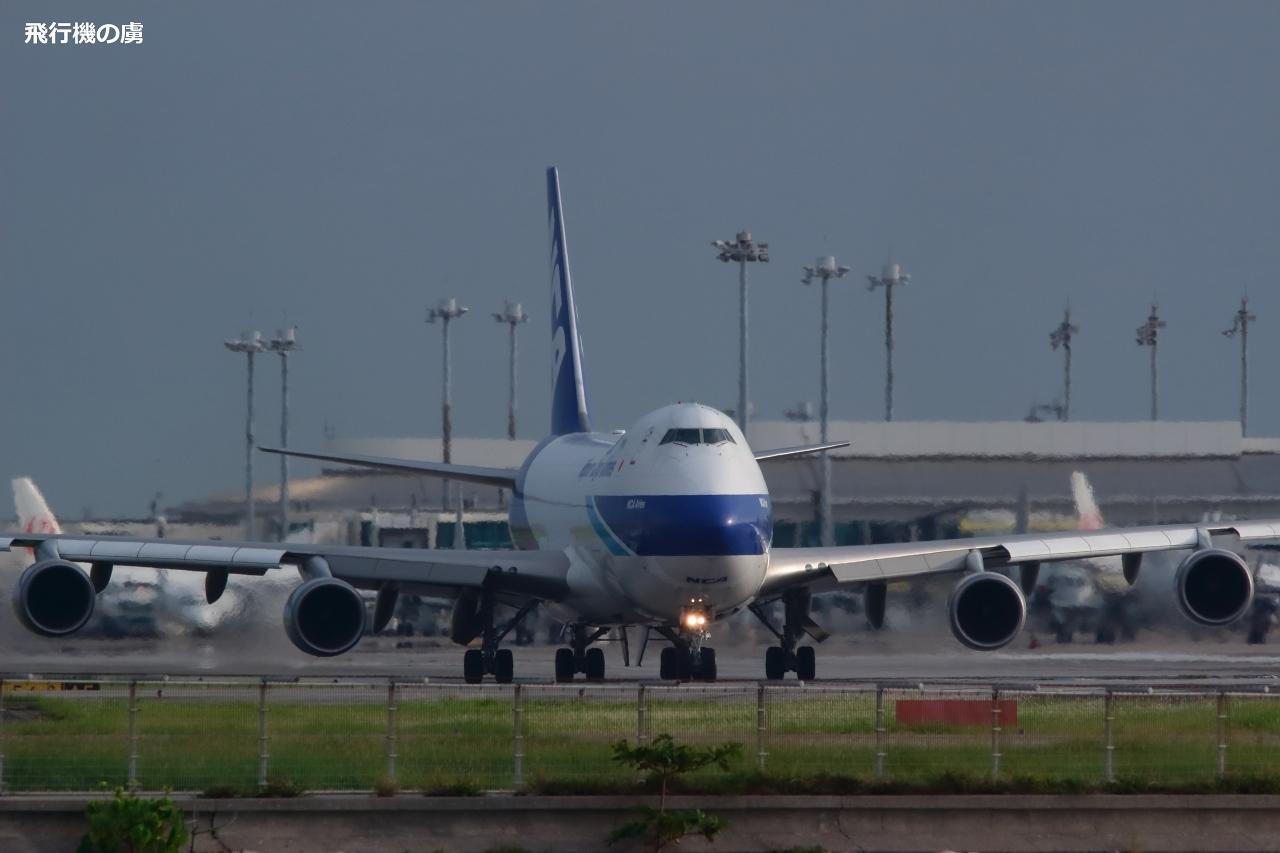 雨上がりの接近  B747  日本貨物航空(KZ)_b0313338_16594445.jpg