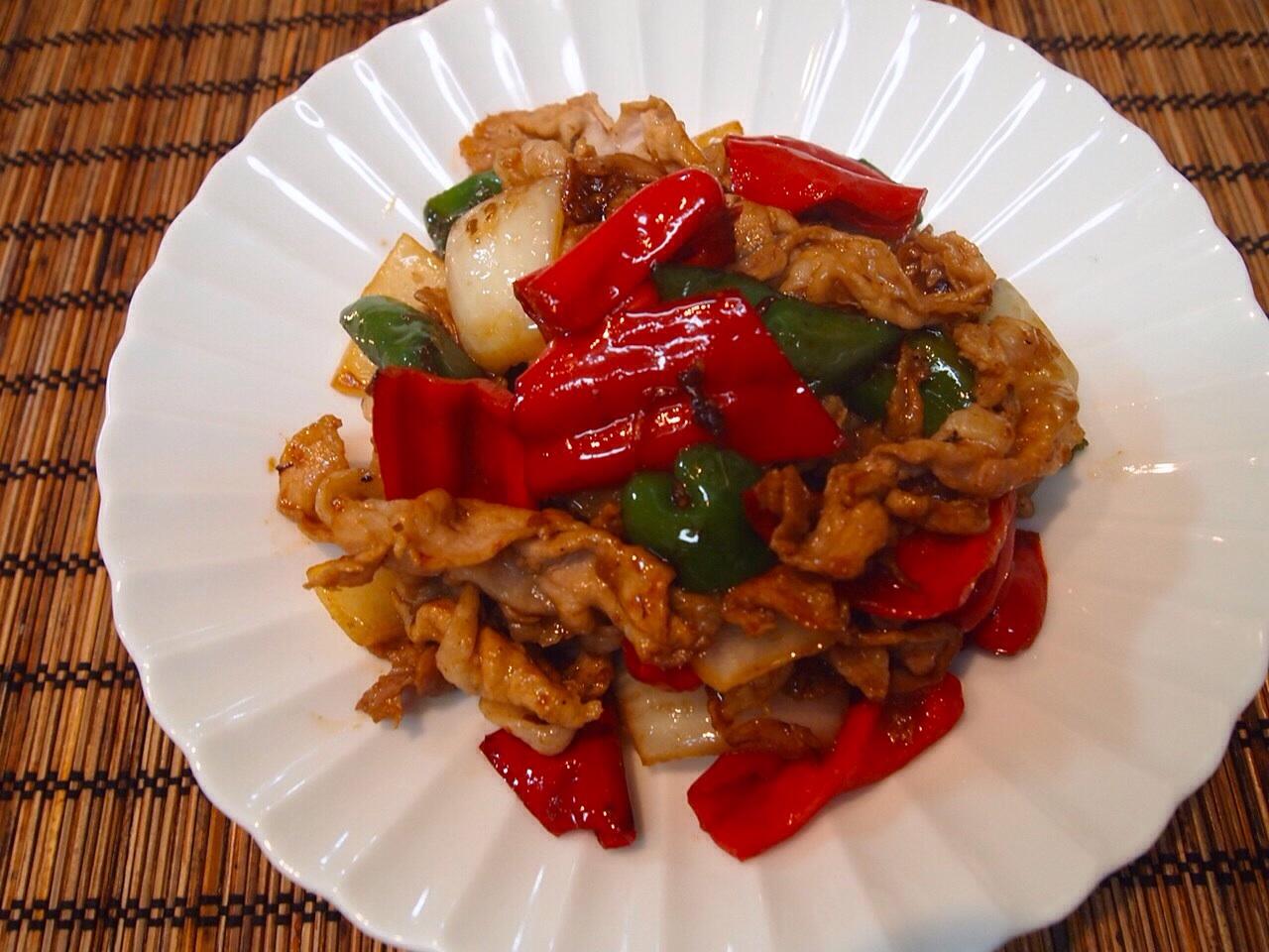 豚肉と野菜の梅肉炒め_a0258686_637599.jpg