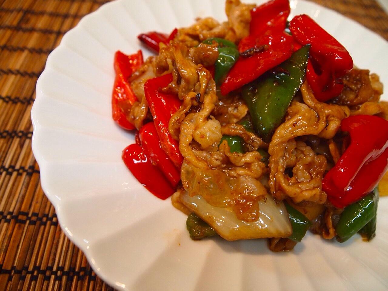 豚肉と野菜の梅肉炒め_a0258686_6462592.jpg