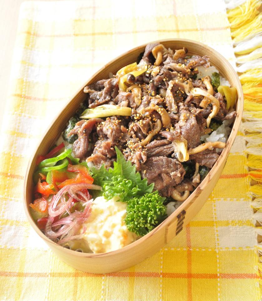 牛丼弁当とポークケチャップ弁当と息子の野球話_b0171098_944142.jpg