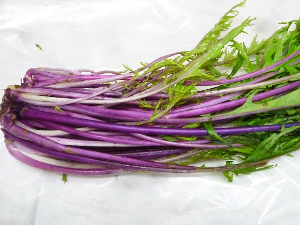 赤い水菜のスムージー_c0152767_21432812.jpg