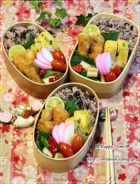 お赤飯とカジキフライ弁当とおうちごはん♪_f0348032_18232892.jpg