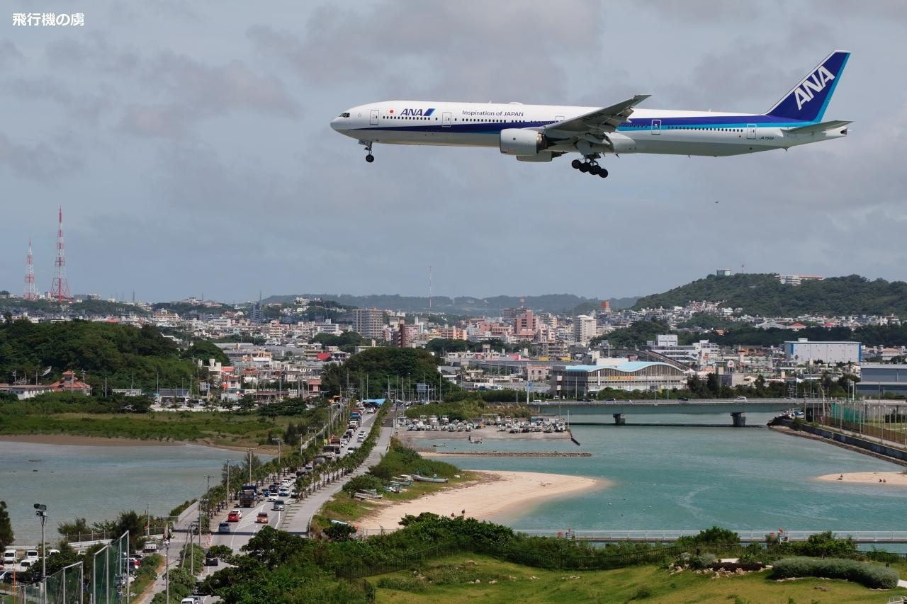 渋滞の瀬長島海中道路を通過して  B777  全日空(NH)_b0313338_18022049.jpg