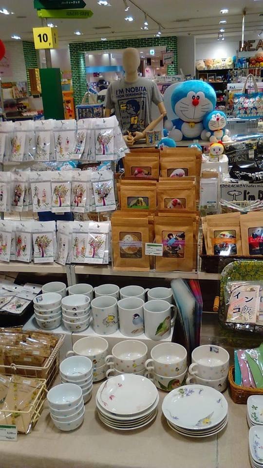 東急ハンズ梅田店 常設ブースのインコと鳥の雑貨展の様子_d0322493_0124821.jpg