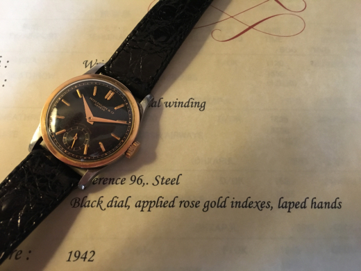 Ref.96 steel and rose with black dial._c0128818_16201751.jpg