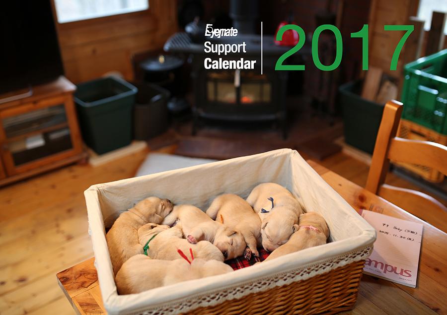 2017 アイメイト60周年 アイメイトサポートカレンダー 販売開始_d0323943_21143561.jpg