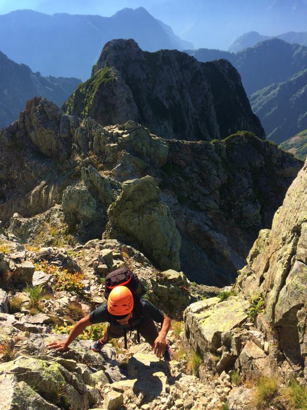 剱岳源次郎尾根 Fastpacking+Alpine Scrambling at Mt.Tsurugi Day.3 2016/09/01-03_b0220886_21154820.jpg