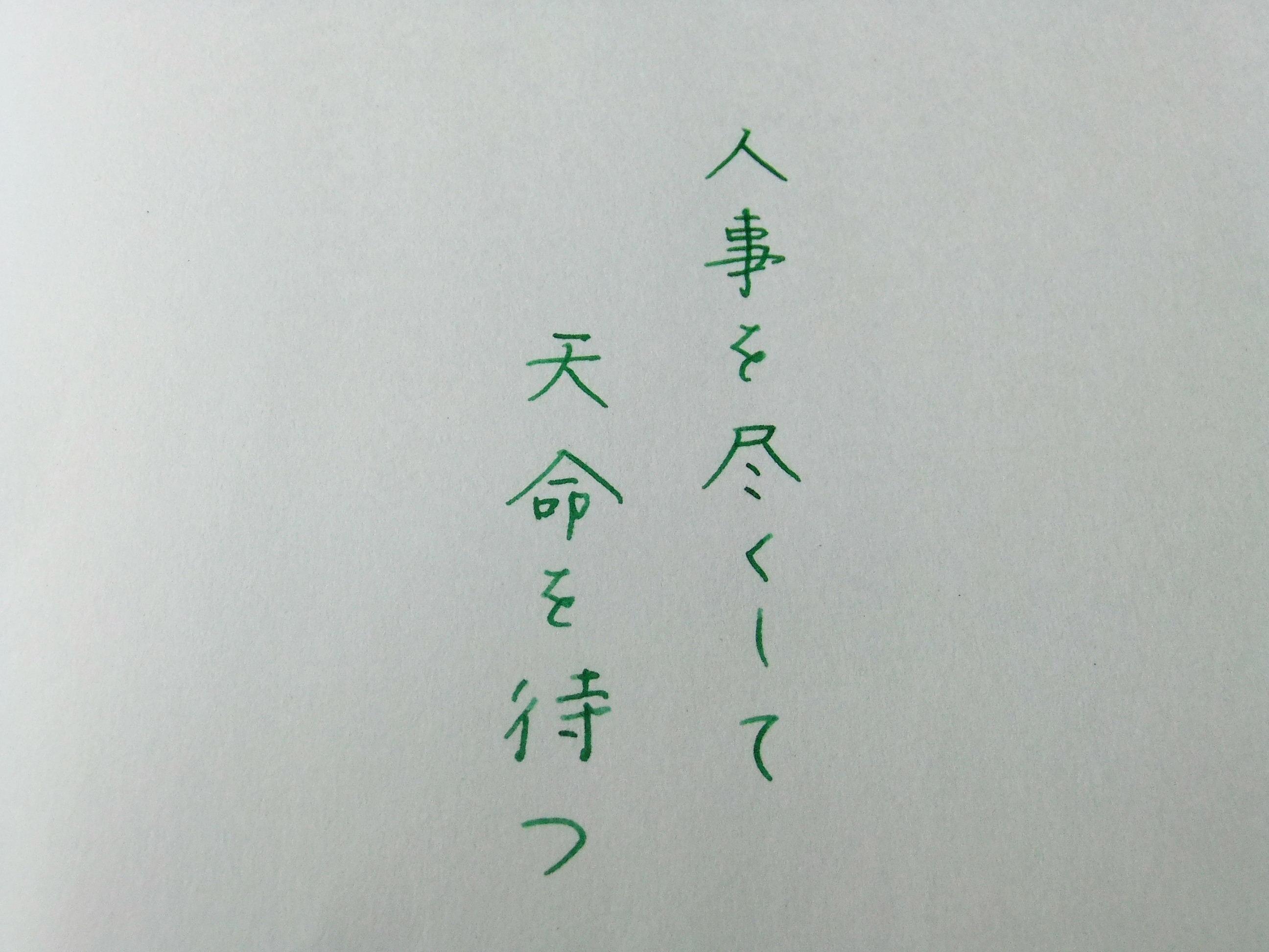 黒子のバスケ×セーラー万年筆~緑間真太郎モデル~(その2)_f0220714_2235984.jpg