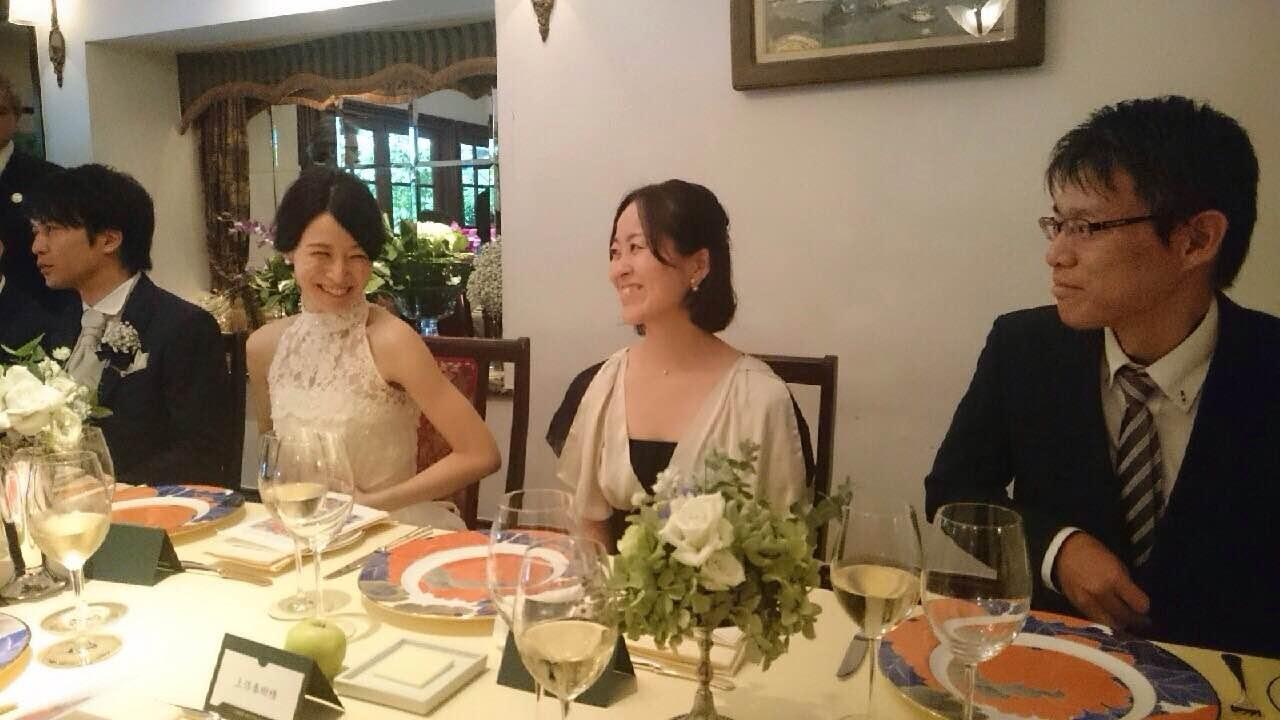 新郎新婦様からのメール 夏の装花 かすみそう シェ松尾松濤レストラン様へ_a0042928_1149958.jpg