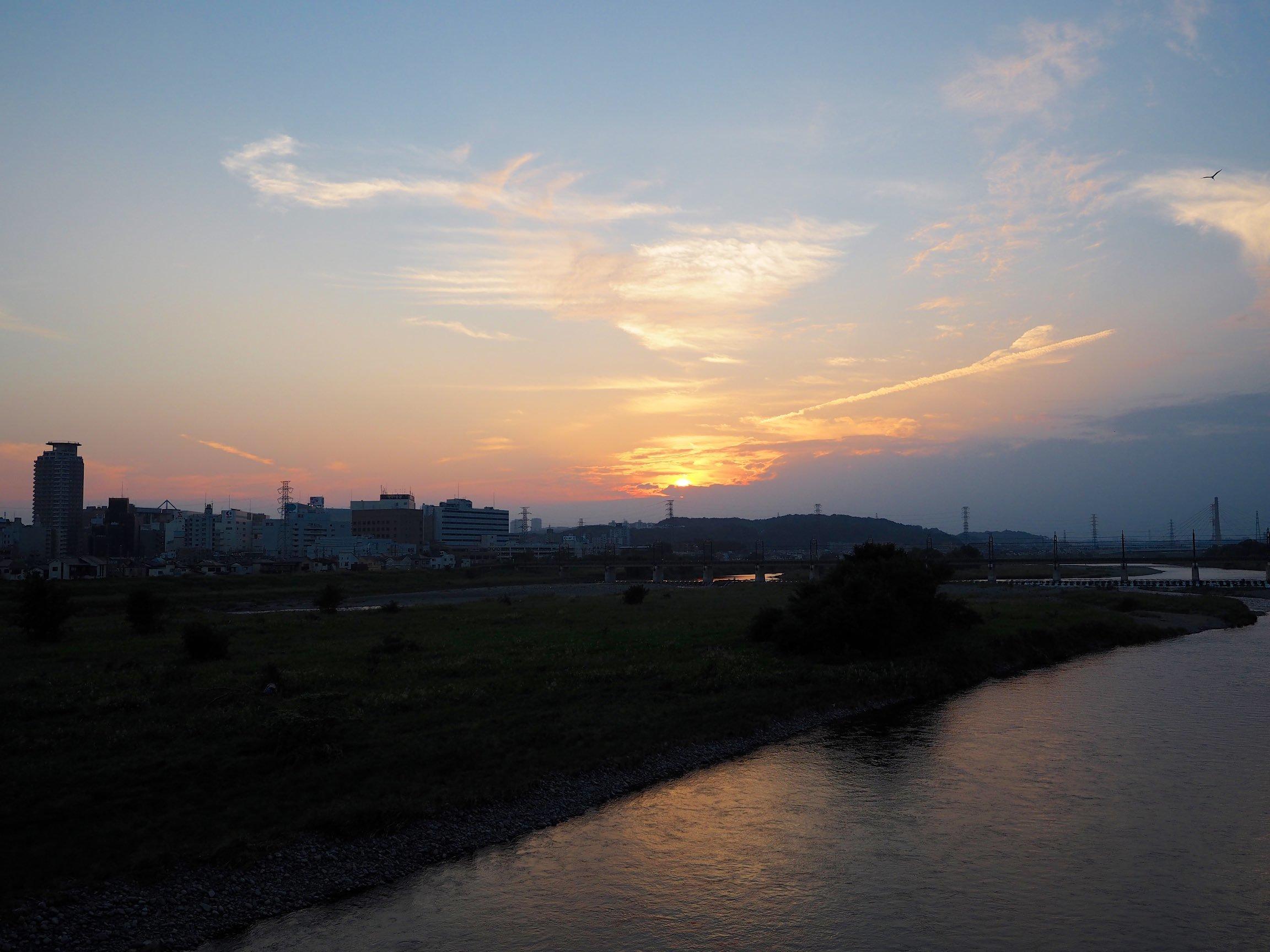 武蔵野 夕景 マイクロフォーサーズ&フルサイズ_b0360240_20194743.jpg