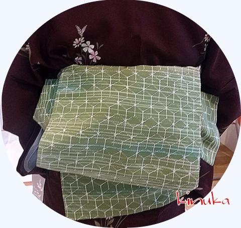 短い帯版「銀座結び」:衣香_f0205317_07123938.jpg