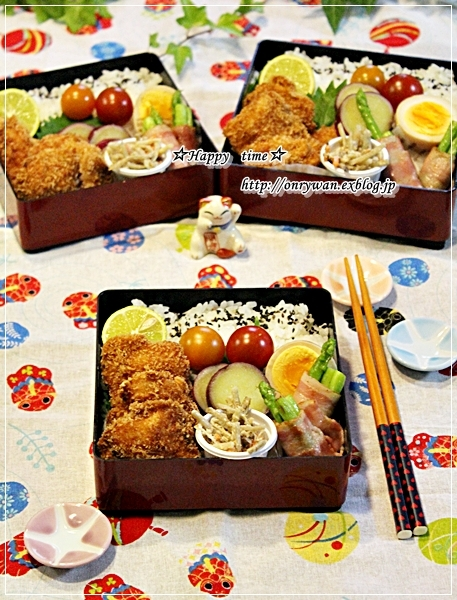 鮭フライ弁当と山食♪_f0348032_17500851.jpg