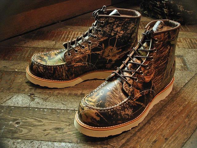 """NEW : REDWING #8884 [Classic Work 6"""" Moc-toe] Camouflage Leather Mossy Oak """"Break-Up"""" 2016 F/W !!_a0132147_20152382.jpg"""
