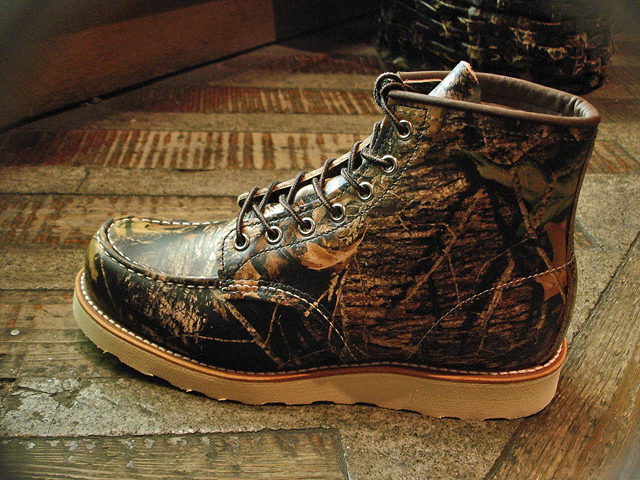 """NEW : REDWING #8884 [Classic Work 6"""" Moc-toe] Camouflage Leather Mossy Oak """"Break-Up"""" 2016 F/W !!_a0132147_20153135.jpg"""