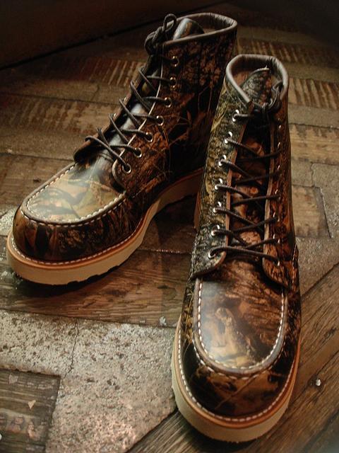 """NEW : REDWING #8884 [Classic Work 6"""" Moc-toe] Camouflage Leather Mossy Oak """"Break-Up"""" 2016 F/W !!_a0132147_20162039.jpg"""