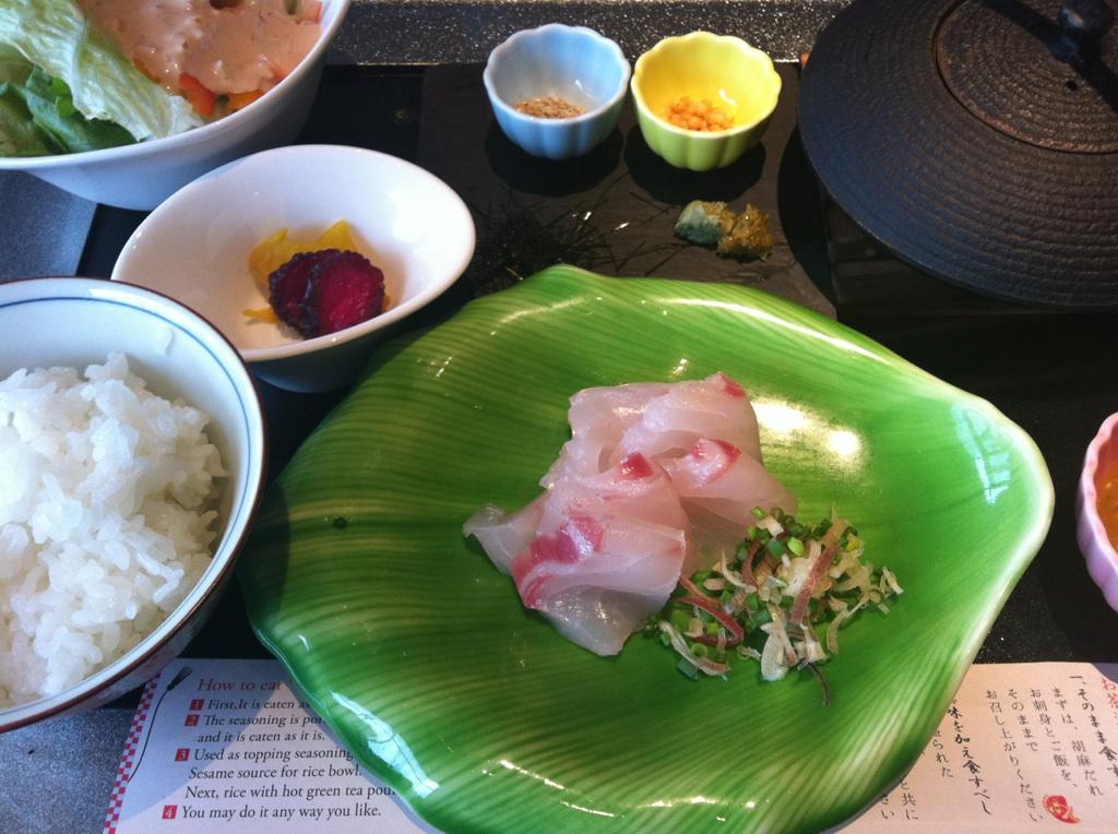 「HAL YAMASHITA 東京」の胡麻だれ鯛茶漬け_b0206085_16461870.jpg