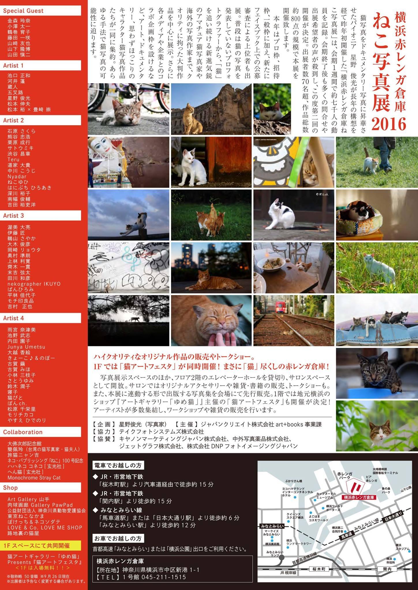 横浜赤レンガ倉庫 ねこ写真展 2016  ~今を生きる猫たちのキロク・キオク~_c0194541_2094589.jpg