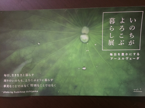 アーユルヴェーダ展示会〜_b0353878_12270407.jpg