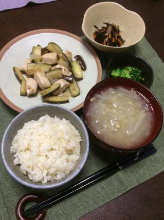 鶏肉とナスのオイスター炒め_d0235108_20335533.jpg