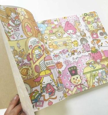 キティちゃんやマイメロのオトナ可愛い塗り絵 Smileが人気です