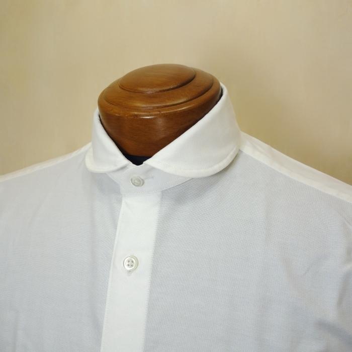 CIT LUXURY(チット・ラグジュアリー)ラウンドカラーピンオックスシャツ(モデル:ANDREW)_c0118375_15032524.jpg