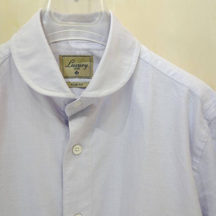 CIT LUXURY(チット・ラグジュアリー)ラウンドカラーピンオックスシャツ(モデル:ANDREW)_c0118375_22570692.jpg
