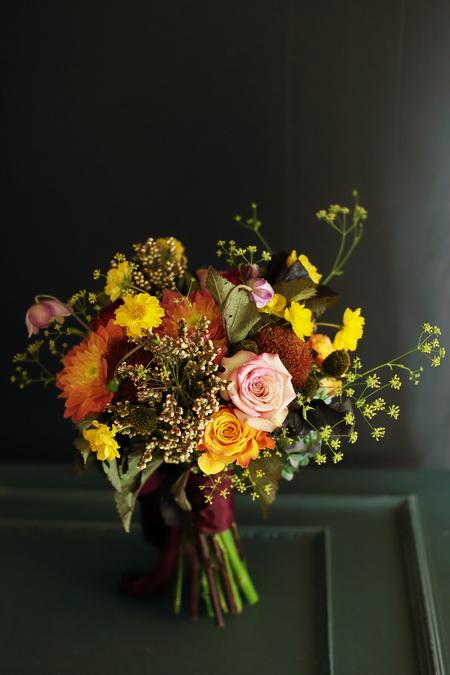 9月一会定期スクール 秋の花のクラッチブーケ _a0042928_1857944.jpg