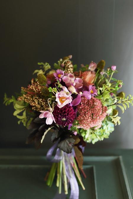 9月一会定期スクール 秋の花のクラッチブーケ _a0042928_1905257.jpg