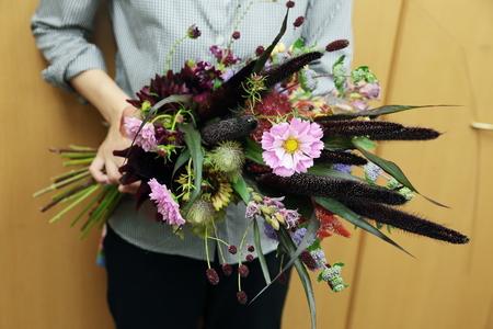 9月一会定期スクール 秋の花のクラッチブーケ _a0042928_1915093.jpg