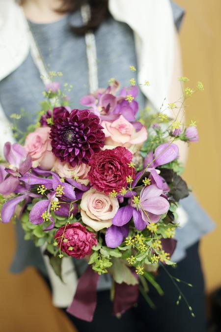 9月一会定期スクール 秋の花のクラッチブーケ _a0042928_1942897.jpg