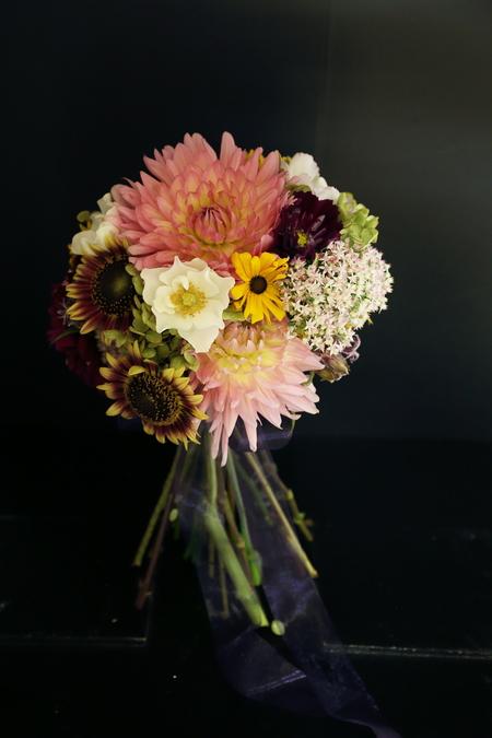 9月一会定期スクール 秋の花のクラッチブーケ _a0042928_1953423.jpg