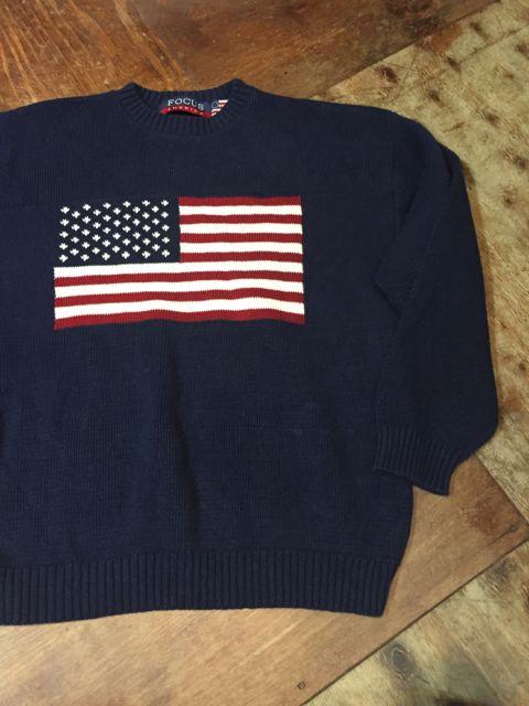 10/8(土)入荷商品! アメリカンフラッグ コットンニットセーター!_c0144020_13481792.jpg
