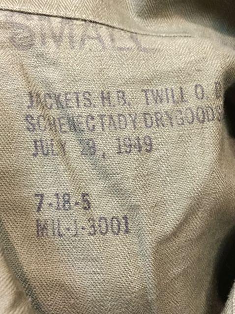 10/8(土)入荷商品!   デッドストック!40s  U.S  ARMY OD-7 HBT JKT!!_c0144020_1432550.jpg
